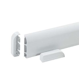 Wiremold 3-1/8-in x 60-in Low-Voltage White Cord Cover