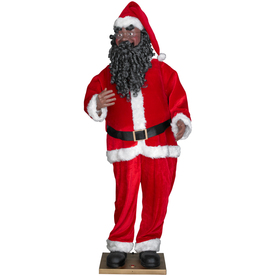 Shop Gemmy Life Size Animated African American Santa At