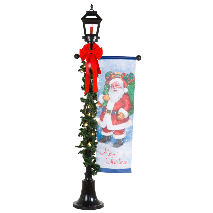 shop holiday living 1 piece lamp post outdoor