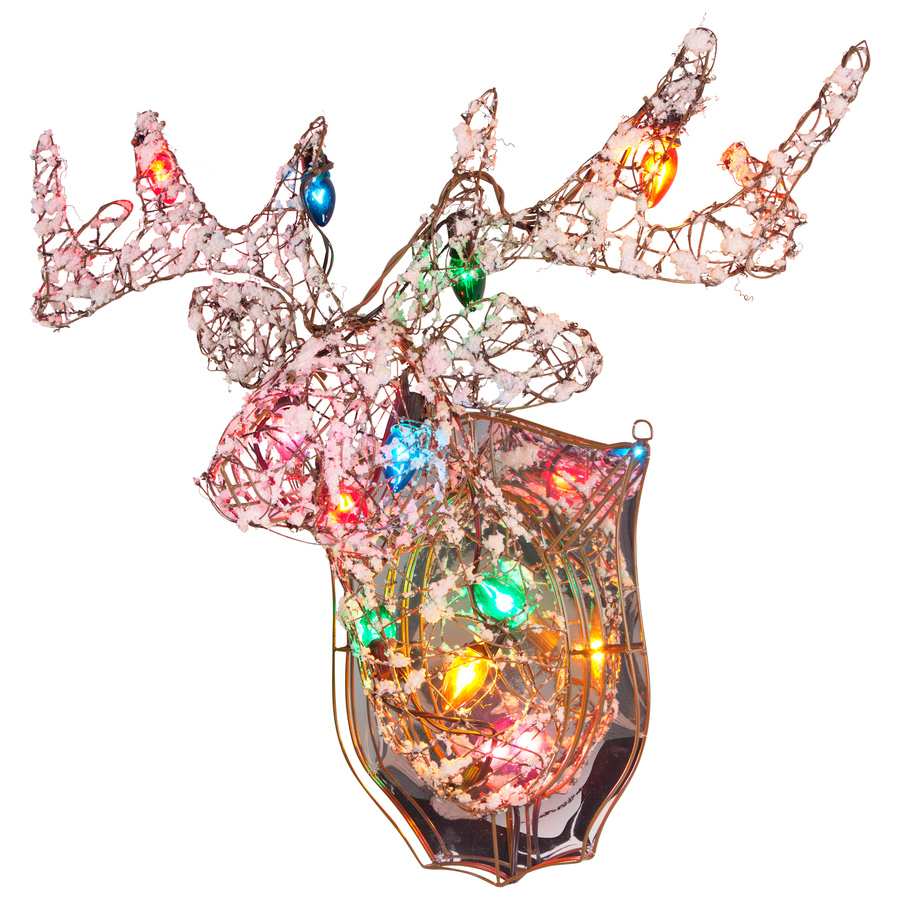 Shop gemmy reindeer lighted outdoor christmas for Christmas reindeer decorations outdoor
