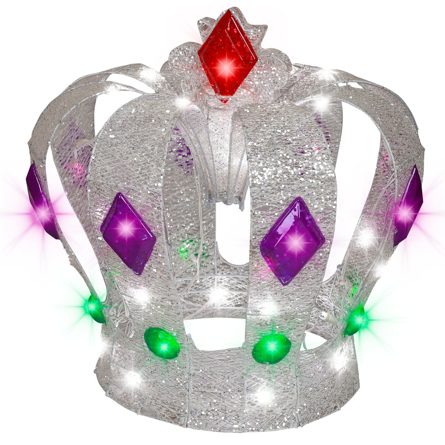 Shop gemmy crown lighted outdoor christmas for Christmas crown decoration