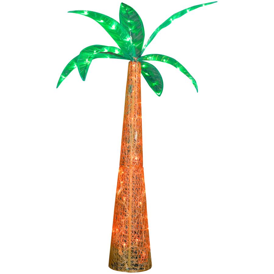 Shop Gemmy Metal Palm Tree LED Light At Lowes.com