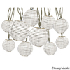 Gemmy 8.5-ft 10-Light White Fabric-Shade Plug-In Globe String Lights