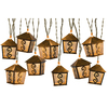 Gemmy 8.5-ft 10-Light White Metal-Shade Plug-In Lantern String Lights