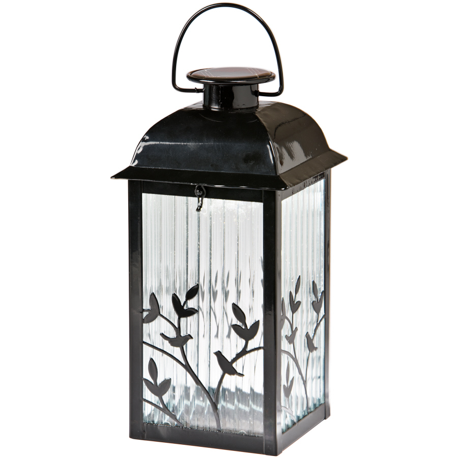 shop gemmy table top solar lantern spring green at. Black Bedroom Furniture Sets. Home Design Ideas