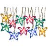 Gemmy 8.5-ft Multicolor Mini Bulb Light String Butterflies Patio String Lights