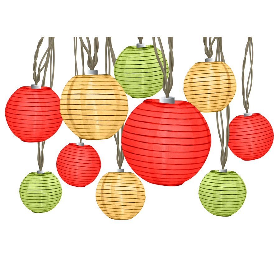 Backyard String Lights Lowes : Shop 10 Light Fiesta Lanterns Mini Light String at Lowescom