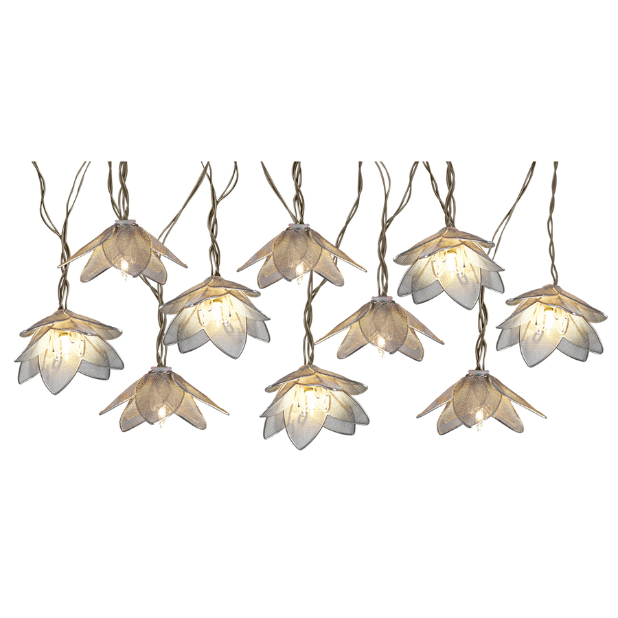 IndoorOutdoor Mini Bulb PlugIn Flower String Lights at Lowescom
