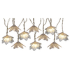 8.5-ft 10-Light White Metal-Shade Plug-In Flowers String Lights