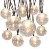 Gemmy Clear Mini Bulb Crackle Patio String Lights