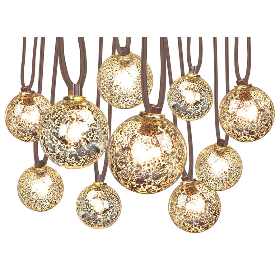 Garden String Lights Lowes : Shop Gemmy 10.5-ft White Indoor/Outdoor Mini Bulb Plug-In Mercury Ball String Lights at Lowes.com