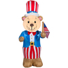 Gemmy 4-ft Lighted Uncle Sam Bear Patriotic Inflatable