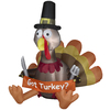 Gemmy 5-ft Inflatable Thanksgiving Turkey with LED White Lights