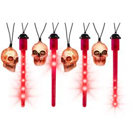Gemmy 63-Count LED Mini Red Halloween Skull String Lights
