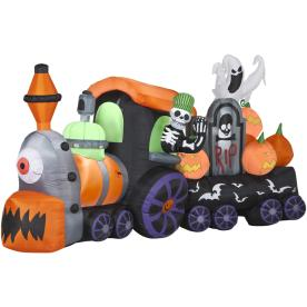 Gemmy 6-1/8-ft Animatronic Inflatable Halloween Skeleton Train