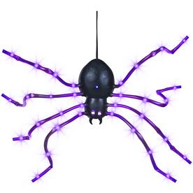 Gemmy 0.2-ft Light Wave Spider Purple with LED Purple Multi-Function Lights