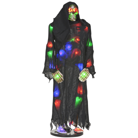 Gemmy 45.276-in Lighted Musical Animatronic Light Up Skeleton Indoor Halloween Decoration
