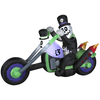 Gemmy 4.8-ft Inflatable Voodoo Rider with Incandescent White Lights