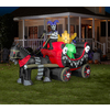 Gemmy 8-ft Inflatable Interactive Animatronic Circus Wagon with Incandescent White Lights