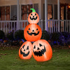 Gemmy 6-ft Inflatable Pumpkin Stack LED White Lights