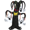 Gemmy 7.5-ft Inflatable Interactive Animatronic Tinsel Tree with Ghosts and Incandescent White Lights