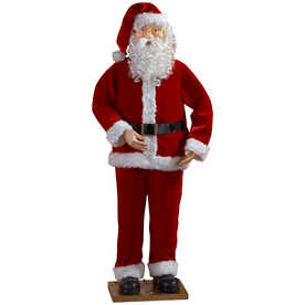 Holiday Living Christmas Plastic Musical Animated Santa