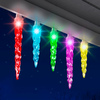 Gemmy Lightshow 24-Count Indoor/Outdoor Multi-Function Color Changing LED Christmas Icicle Lights