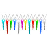 Gemmy LightShow 24-Count Multi-Function Color Changing LED Plug-in Christmas Icicle Lights