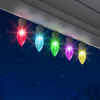 Gemmy Plastic Light Show Christmas Bulb String Lights