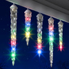 Gemmy Lightshow 61-Count Indoor/Outdoor Shooting Star Multicolor LED Christmas Icicle Lights