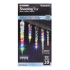 Gemmy LightShow 61-Count Shooting Star Multicolor LED Plug-in Christmas Icicle Lights