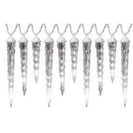 Gemmy Lightshow 61-Count Indoor/Outdoor Shooting Star White LED Christmas Icicle Lights