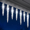 Gemmy 24-Count 24.5-ft Plastic Light Show Icicle Lights