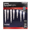 Gemmy Lightshow 24-Count Indoor/Outdoor Multi-Function White LED Christmas Icicle Lights
