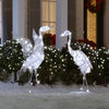 Gemmy 3-ft Metal Crystal LED Christmas Cranes