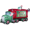 Holiday Living 6.98-ft Inflatable Fabric Merry Christmas Truck