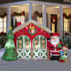 Holiday Living 6-ft Inflatable Fabric Christmas Reindeer Stable