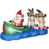 Holiday Living 3.8-ft Inflatable Fabric Waterskiing Christmas Santa