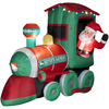 Holiday Living 7.21-ft Inflatable Fabric Christmas Santa In Train