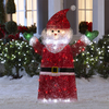 Gemmy 4-ft Metal Crystal LED Christmas Santa
