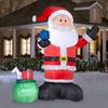 Holiday Living 14-ft Inflatable Fabric Christmas Giant Santa