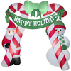 Holiday Living 10-ft Inflatable Fabric Archway Christmas Candy Cane