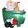 Holiday Living 3.8-ft Christmas Inflatable Fabric Santa In Bathtub