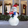 Holiday Living 6-ft Inflatable Fabric Shivering Snowman