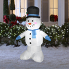 Holiday Living 4-ft Inflatable Fabric Snowman