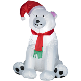 Holiday Living 3-1/2-ft Inflatable Fabric Bear