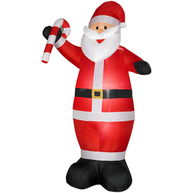 Holiday Living 7-ft Inflatable Fabric Santa with Candy Cane