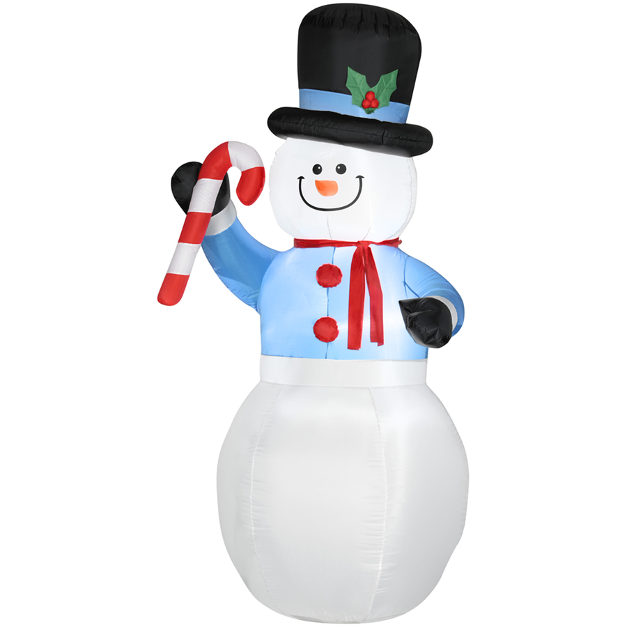 ... 98-ft Christmas Inflatable Fabric Snowman with Candy Cane at Lowes.com