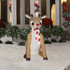 Gemmy 5.51-ft Christmas Inflatable Fabric Rudolph