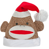 Holiday Living Brown Felt Sock Monkey Santa Hat